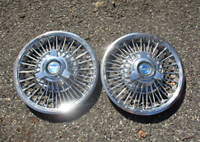 Genuine 1965 1966 Ford Mustang 14 Inch Wire Spoke Spinner Hubcaps Wheel Covers Fits Mustang
