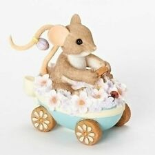 """Charming Tails Mouse Figure Easter Spring """"Egg-Stra Beautiful Ride"""" #19386 Nib"""