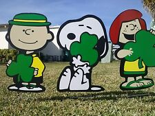 Peanuts Charlie Brown St. Paddy's Valentine's Day Yard and Garden Decorations