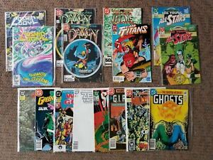 Lot of 16 MIXED DC COMICS 1985-1994 Cosmic Boy Demon runs Swamp Thing VF/NM