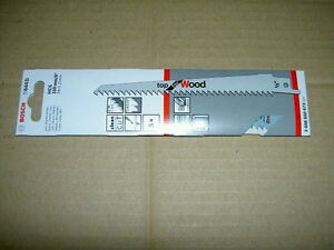 5 x BOSCH S644D RECIPROCATING SABRE SAW BLADES FOR WOOD 5 pk