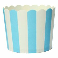 50 X Cupcake Paper Cake Case Baking Cups Dessert Cup,Blue Striped Q6Y3 P0P1