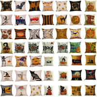 Happy Halloween Pillow Cases Linen Sofa Pumpkin ghosts Cushion Cover Home Decor