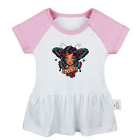 Retro Butterfly Reborn Girl Newborn Baby Dress Toddler 100% Cotton Clothes