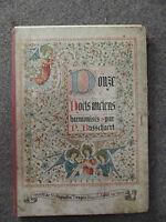 rare Partition Orgue Harmonium Douze Noels anciens P Busschaert Chant religieux