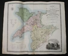 GREENWOOD, C. & J. Map of North West Wales. Coloured engraved map. 1834.