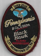 US ARMY B CO 1/150TH AVN PATCH -'BLACK HAWK'  PAANG  COLOR