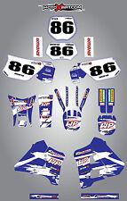 Full  Custom Graphic  Kit -SAFARI STYLE - YAMAHA DT125 200 1991 - 2003 stickers