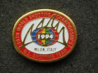 VINTAGE METAL PIN 1994 MILAN ITALY 46th WORLD SHOOTING CHAMPIONSHIP US TEAM