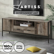 Artiss TV Cabinet Entertainment Unit Stand Storage Wood Industrial Rustic 160cm