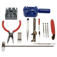 16PC Watch Repair Tool Kit Pin Band Strap Link Remover Screwdrivers Back Opener