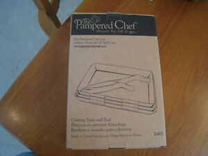 Pampered Chef COATING TRAYS AND TOOL #2605 New in Box