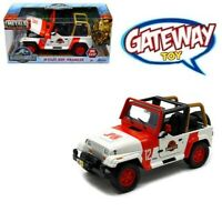 1/24 Jada JURASSIC PARK Staff Jeep Wrangler #12 Diecast Model Car White 97806