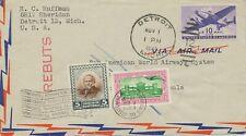 USA 1946 Kab.-Flugpostbrief adressiert an Pan Am, Guatemala, HIN- und RÜCKFLUG!!