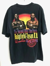 Boxing EVANDER HOLYFIELD vs. MIKE TYSON II Black T-Shirt XL Official MGM 1997