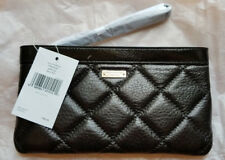 Kate Spade New York Gold Coast Chrissy Wristlet Wallet Black Quilted Leather NWT