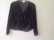Charlotte Halton Beaded Black Jacket  Top 12