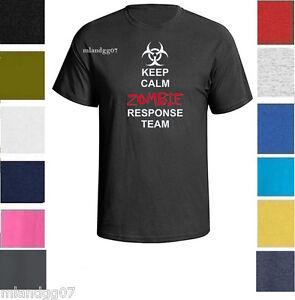 Keep Calm Zombie Response Team T-Shirt  Walking Dead Outbreak SZ S-5XL