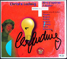 Christa LUDWIG Signiert FAREWELL TO SALZBURG & ARIAS 2CD Schumann Mahler Strauss