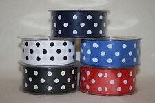 38mmx20m spotty polka dot satin ribbon choose colour