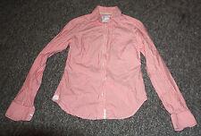 Women's American Eagle Favorite Shirt 0 Zero Pink/White Button Down