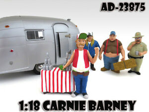 "CARNIE BARNEY ""TRAILER PARK"" FIGURE FOR 1:18 SCALE MODELS AMERICAN DIORAMA 23875"