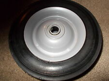 """(2) Steel Wheels 6""""X1.50"""" 1/2"""" Bore SOLID TIRE NO GREASE ZERK PEDAL CAR CART"""