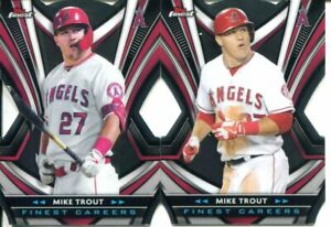 (2) 2021 TOPPS FINEST BASEBALL MIKE TROUT CAREER DIE-CUT #2, #10