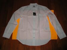 "GAP Long Sleeve Dress Shirt Large (L) White ""BRAND NEW"""