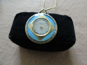 Vintage Swiss Made Mechanical Wind Up Lucerne Necklace Pendant Watch