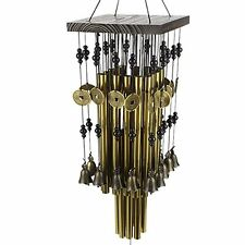 Ylyycc Brassiness Wind Chime 24 Tube Metal Windbell Money Drawing Wind Chime, Ne