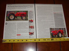 1963 PORSCHE MODEL 217 TRACTOR ORIGINAL 2010 ARTICLE