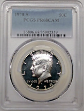 1970 S Proof Kennedy Half Dollar PCGS PR68 CAM Silver Registry Coin