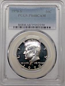 1970 S Proof Kennedy Half Dollar PCGS PR68 CAM Silver Registry Coin