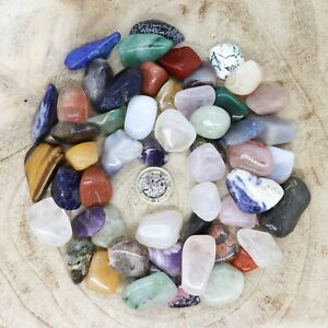 50 x Assorted Crystal Tumblestone Sets Collections 435g-534g Reiki seconds