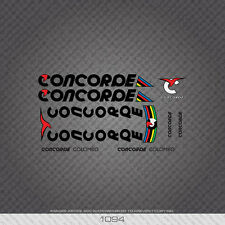 01094 Concorde Columbo Bicycle Stickers - Decals - Transfers - Black