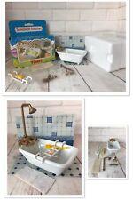 Sylvanian Families Tomy Vintage Bath Shower Set Calico Critters Die Cast Ceramic
