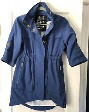 Anthropologie Millard Fillmore Women's Blue Nylon Utility Trenchcoat Jacket XS