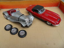 Voiture auto miniature Jaguar SS100 Burago et Jaguar Type E Polistil car toys