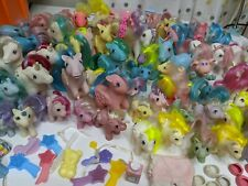 My Little Pony Lot, 70 ponies/friends and accessory, Vintage, Huge Lot! G1 rares