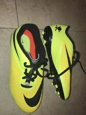 Nike Hypervenom Cleats Size 5.5 Y Youth Black Neon Yellow Skull New 5.5y Soccer
