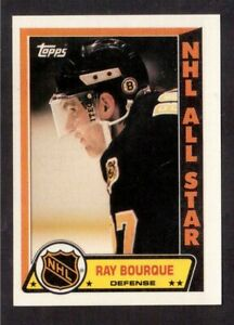 TOPPS 1989-90 STICKERS # 7 RAY BOURQUE, BOSTON BRUINS !! D7