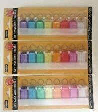 3 X 8pc Multicolor Key Tags With Holder-I.D Tags-Lable Window-USA SELLER