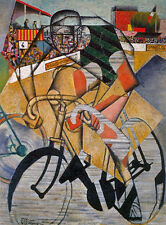 At the Cycle Race Track   by Jean Metzinger  Giclee Canvas Print Repro