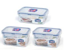 3Pcs Lock & Lock Classic Food Storage Plastic Container Set(470mL x2, 350mL x1)