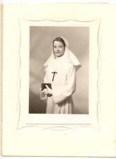 Jeune fille communiante communion - photo ancienne an. 1950