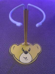 "Build A Bear BABW Yellow Bear Head Stand Display For 11-18"" Plush Stuffed Animal"