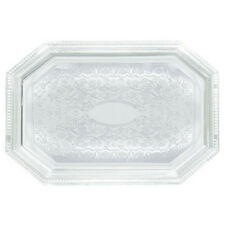 Winco Cmt-1217, 12x17-Inch Chrome Plated Octagonal Serving Tray with Engraved Ed