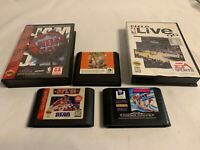 SEGA Genesis Bundle Lot of FIVE Sports Games NBA NFL Olympics Hardball!