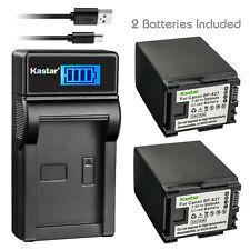 Kastar BP-827 Battery + Charger For Canon VIXIA HF XA10 G10 G20 HF10 HF100 HF200